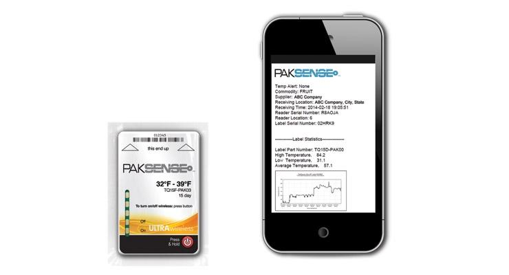 Smart labels, printed electronics and food temperature monitoring